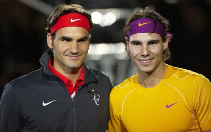 Roger Federer and Rafael Nadal snap