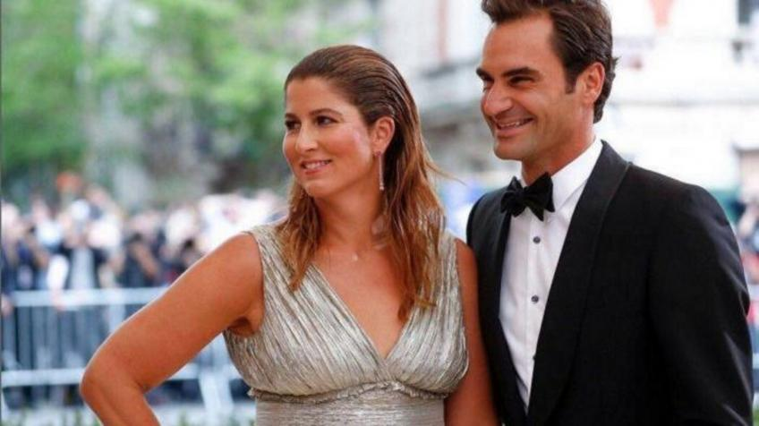 Roger Federer and wife
