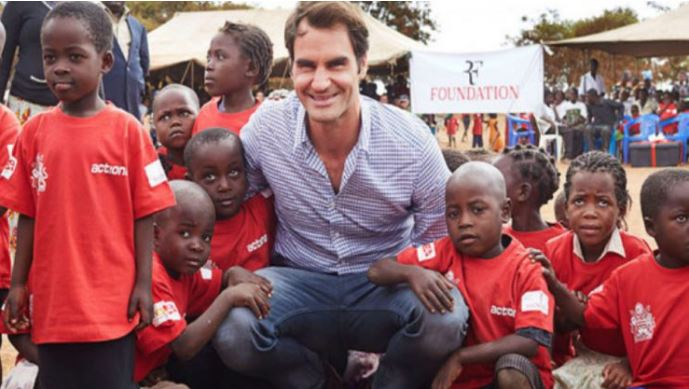 Roger Federer & kids
