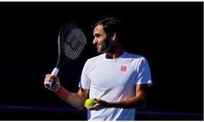 Roger Federer looked away