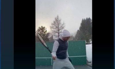 Roger Federer practice