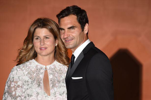 Roger Federer with Mirka Federer