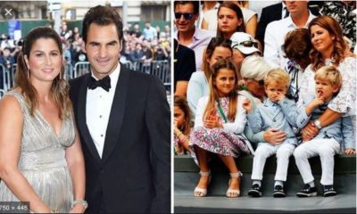 Roger Federer with wife