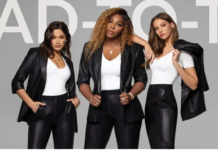 Serena Williams in leather suit