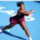 Serena Williams play on court