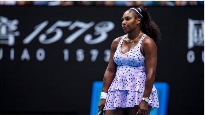 Serena Williams stand