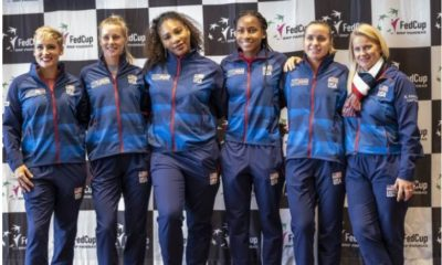 Serena Williams with team