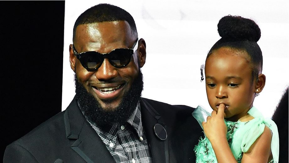 lesbron james and daugther