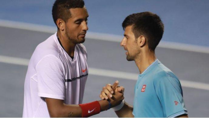 Dominic Thien and Novak Djokovic