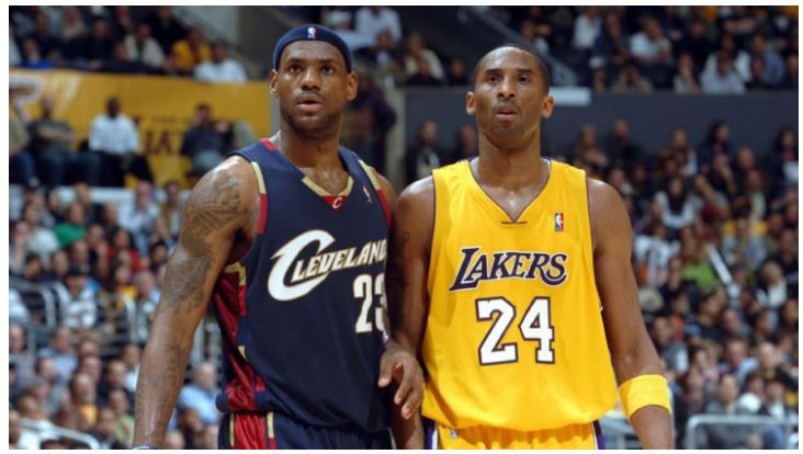 Lebron James and Kobe Bryant