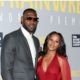 Lebron James snap with wife