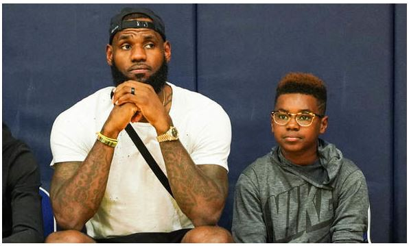Lebron James with Bryce