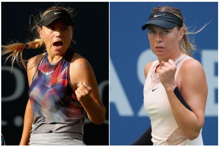 Maria Sharapova and Sofia kenin