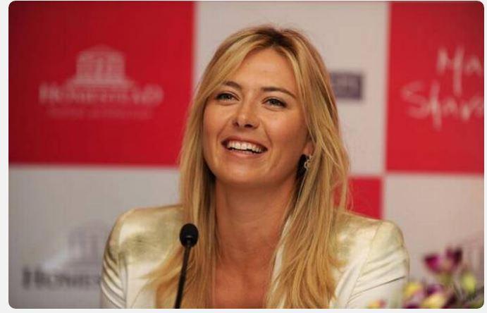 Maria Sharapova laugh