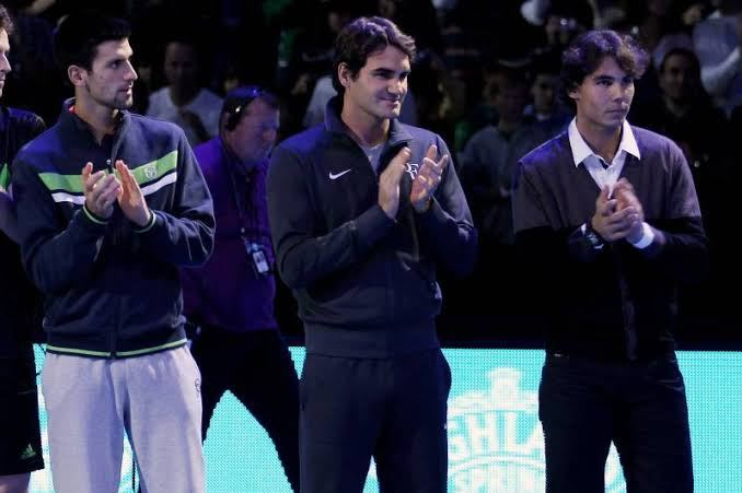 Novak Djokovic, Roger Federer and Rafael Nadal