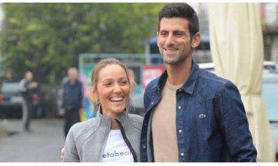 Novak Djokovic & Wife smile