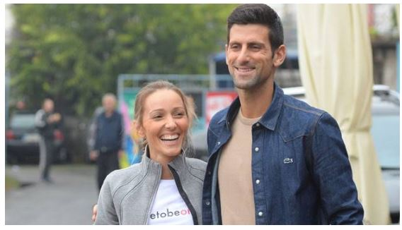 Novak Djokovic & Wife smile
