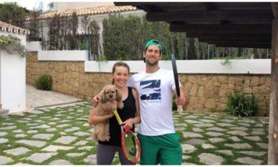 Novak Djokovic and Jelena djokovic