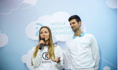 Novak Djokovic and lady