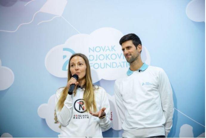 Novak Djokovic and lady