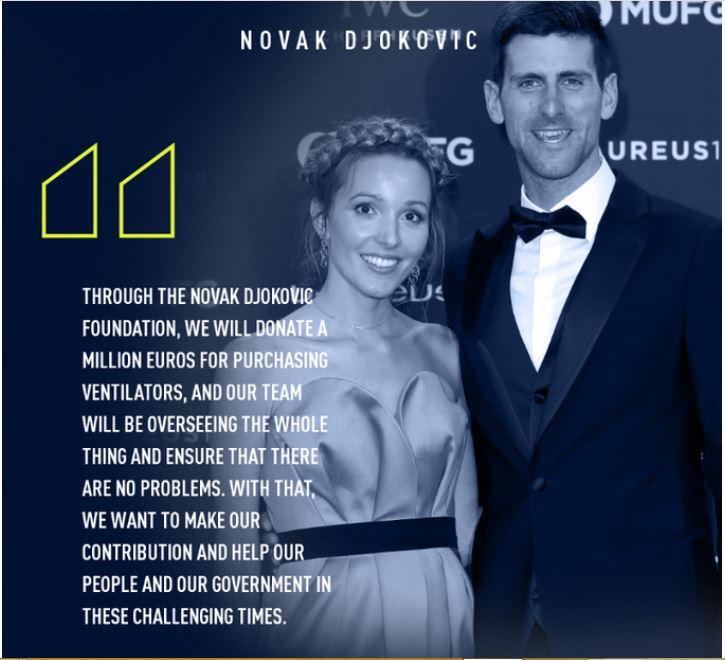 Novak Djokovic and wife snap