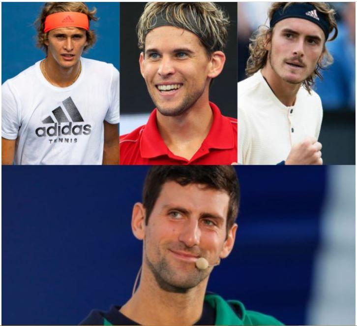 Novak Djokovic and young stars