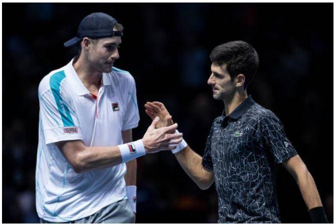 Novak Djokovic shaking