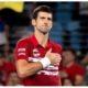 Novak Djokovic touch chest