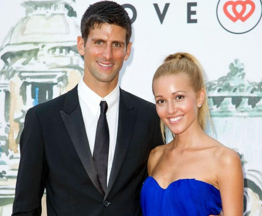 Novak Djokovic & wife