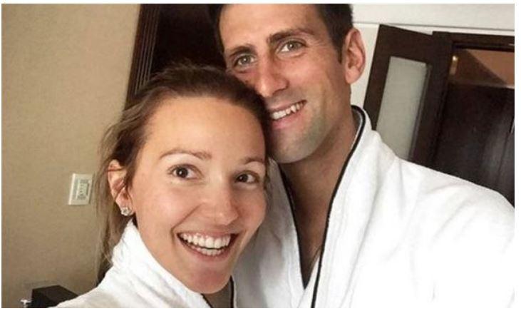 Novak Djokovic with wife
