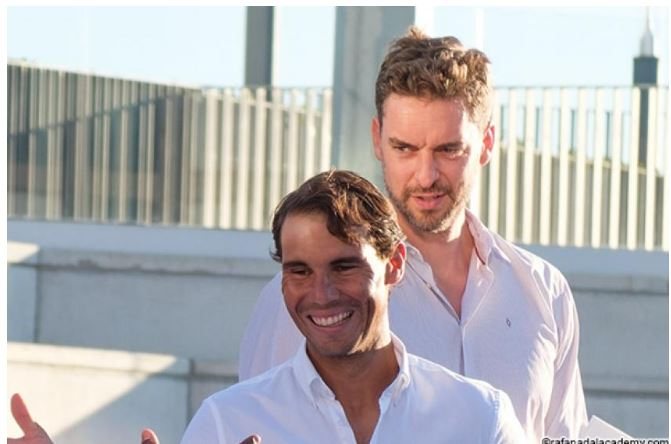 Rafael Nadal And Pau Gasol