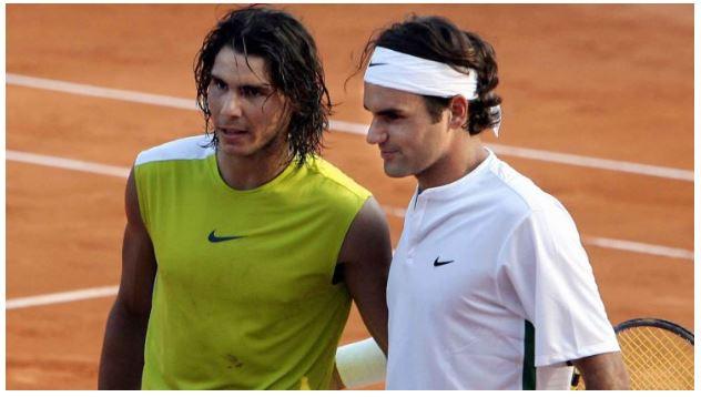 Rafael Nadal and Roger Federer youth