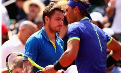Rafael Nadal and Stan Warinka play
