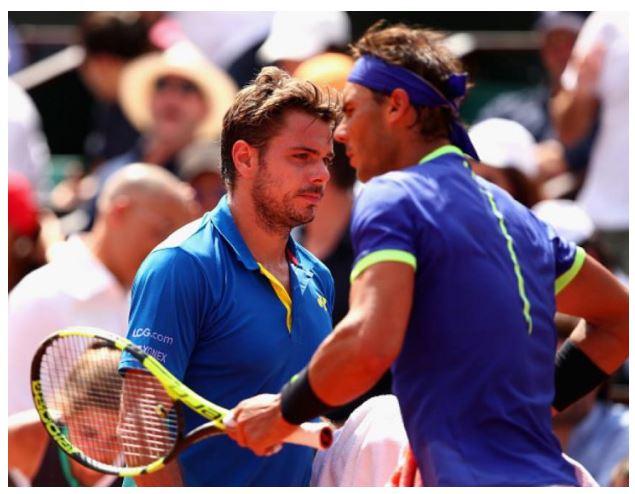 Rafael Nadal and Stan Warinka play