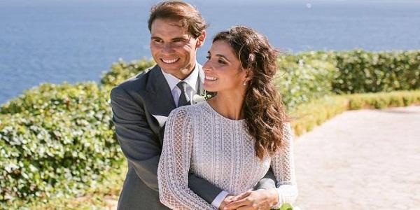 Rafael Nadal and wife