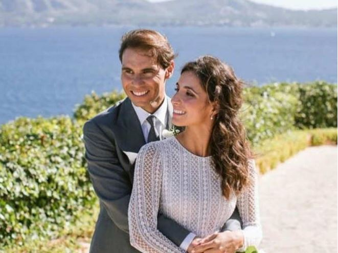 Rafael Nadal and wife snap