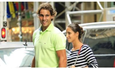 Rafael Nadal and wife walk
