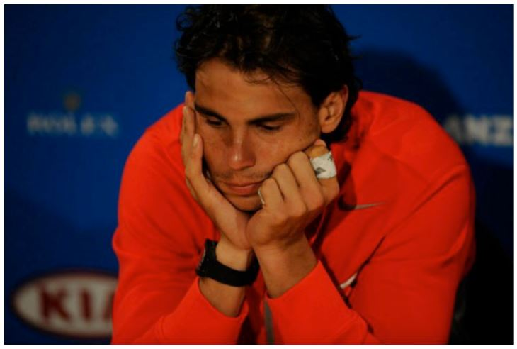 Rafael Nadal in thought