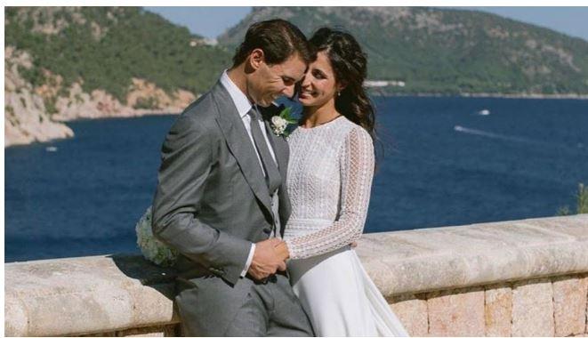 Rafael Nadal kiss wife