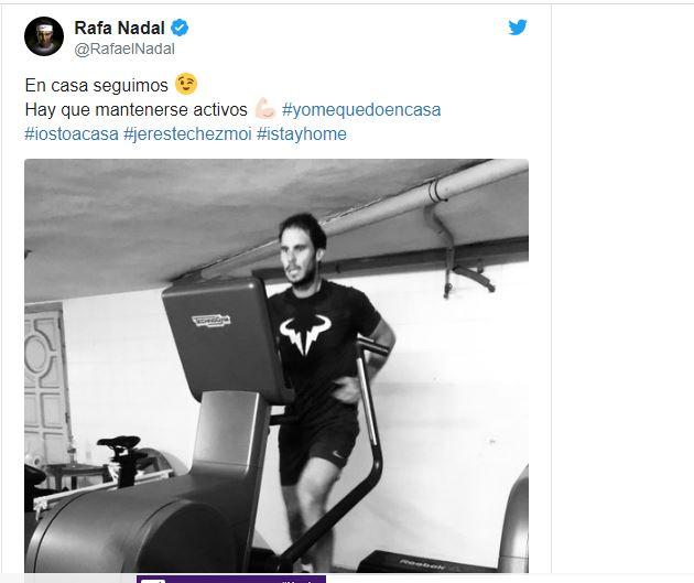Rafael Nadal tweet