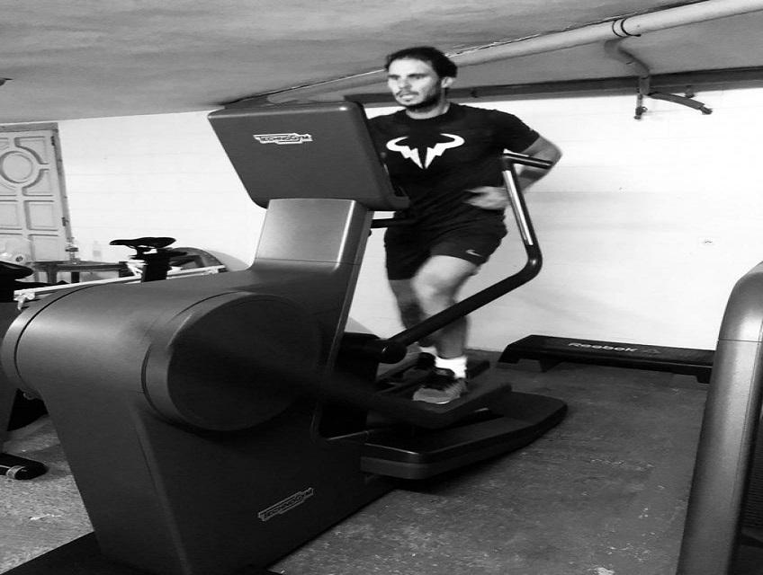 Rafael Nadal workout