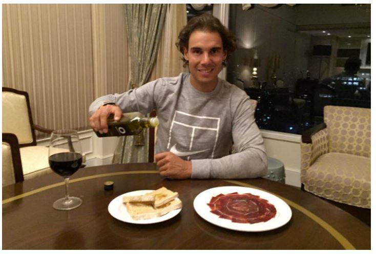 Rafael nadal eating