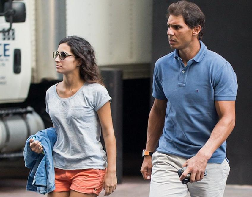 Rafael nadal walk with wife
