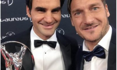 Roger Federer and Francesco Totti