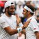 Roger Federer and Matteo Berretini