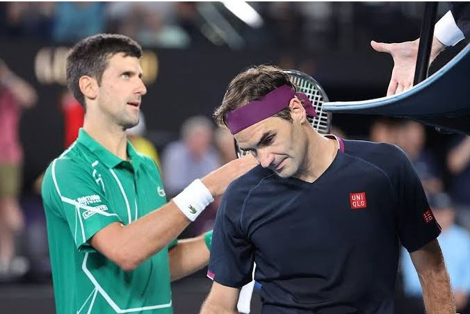 Roger Federer and Novak Djokovic holds