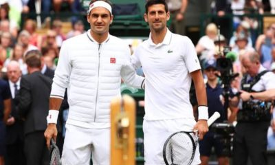 Roger Federer and Novak Djokovic holds