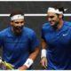 Roger Federer and Rafael Nadal smiling
