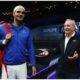 Roger Federer and Rod Laver