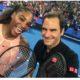 Roger Federer and serena williams smile
